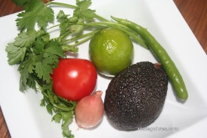 Ingredients Guacamole