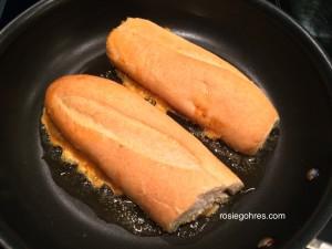 Frying Roti John