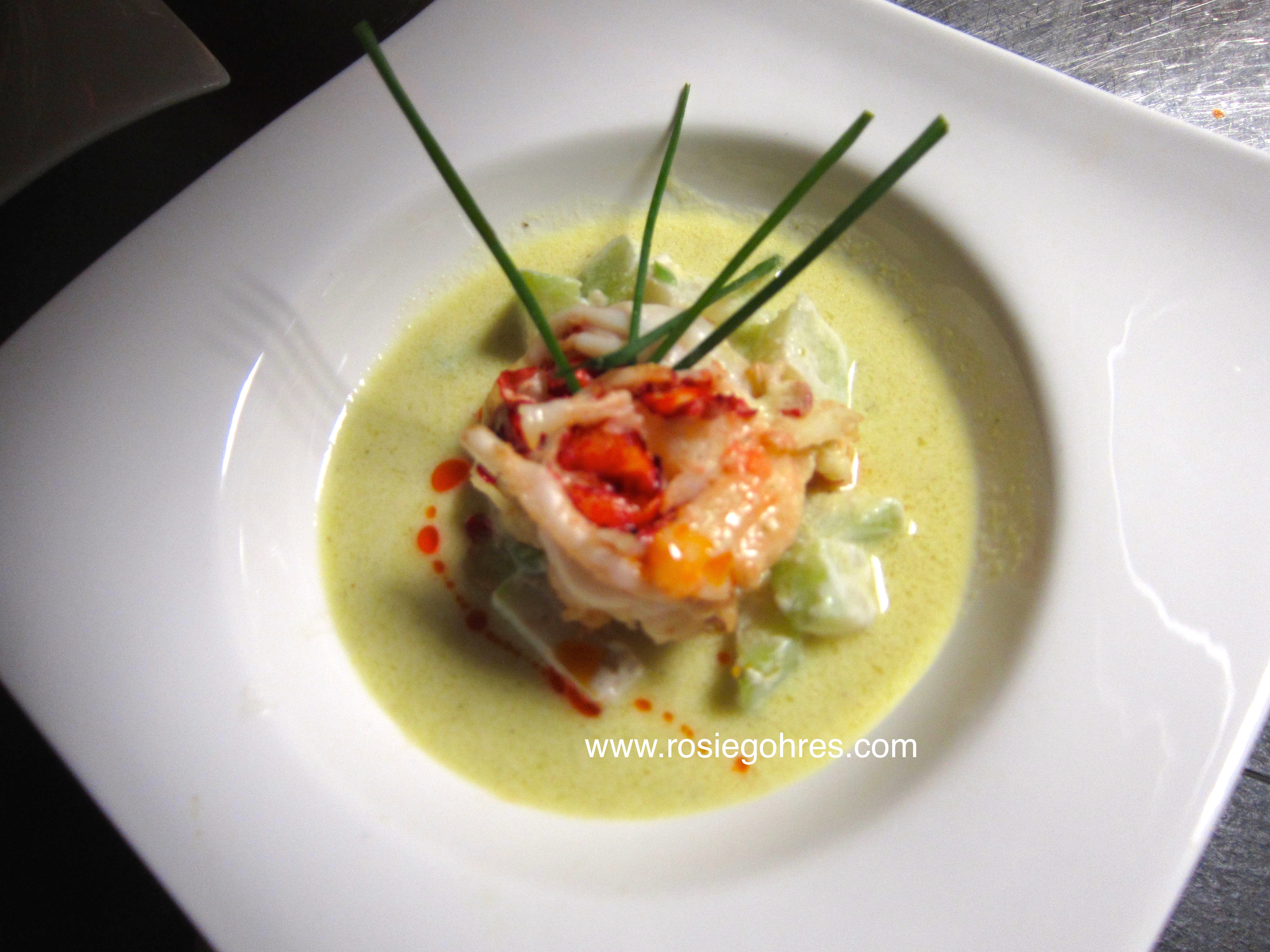 Chef menu modern indonesian cuisine at restaurant blauw - Contemporary cuisine recipes ...