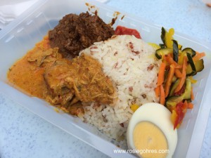 Nasi Dagang-wild rice,fish gully,egg,beef