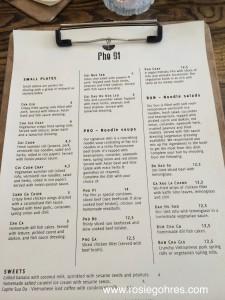 Pho91 menu